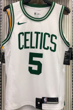 Celtics GARNETT #5 White NBA Jerseys Hot Pressed
