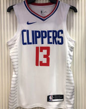 2021 Clippers GE0RGE #13 Limited Edition White NBA Jerseys Hot Pressed