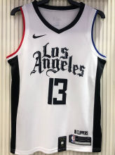 2021 Clippers GE0RGE #13 White NBA Jerseys Hot Pressed