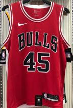 Bulls JDRDAN #45 Red NBA Jerseys Hot Pressed