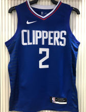 2021 Clippers LEONARD #2 Limited Edition Blue NBA Jerseys Hot Pressed