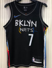 2021 Nets DURANT#7 City Edition Black NBA Jerseys Hot Pressed