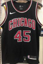 Bulls JDRDAN #45 Black NBA Jerseys Hot Pressed