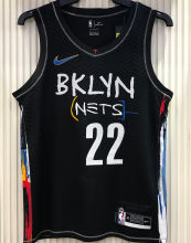 2021 Nets LEVERT #22 City Edition Black NBA Jerseys Hot Pressed
