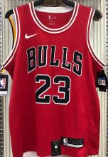 Bulls Jordan #23 Red NBA Jerseys Hot Pressed
