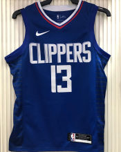 2021 Clippers GE0RGE #13 Limited Edition Blue NBA Jerseys Hot Pressed