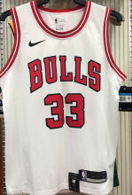 Bulls PIPPEN#33 White NBA Jerseys Hot Pressed
