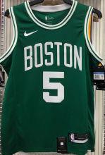 Celtics GARNETT #5 Green NBA Jerseys Hot Pressed