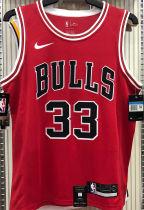 Bulls PIPPEN#33 Red NBA Jerseys Hot Pressed
