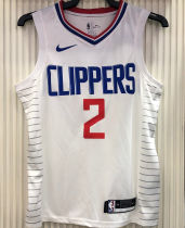 2021 Clippers LEONARD #2 Limited Edition White NBA Jerseys Hot Pressed