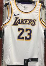 LA Lakers James # 23 White NBA Jerseys Hot Pressed