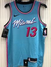 2021 Miami Heat ADEBAYO #13 Blue NBA Jerseys Hot Pressed
