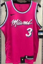 2021 Miami Heat WADE #3 Pink NBA Jerseys Hot Pressed