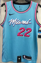 2021 Miami Heat BUTLER #22 Blue NBA Jerseys Hot Pressed
