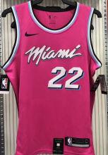 2021 Miami Heat BUTLER #22 Pink NBA Jerseys Hot Pressed