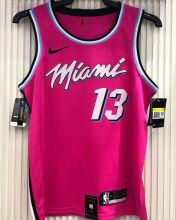 2021 Miami Heat ADEBAYO #13 Pink NBA Jerseys Hot Pressed