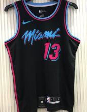 2021 Miami Heat ADEBAYO #13 Black NBA Jerseys Hot Pressed