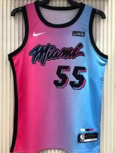 2021 Miami Heat ROBINSON #55 City Edition Pink Blue NBA Jerseys Hot Pressed
