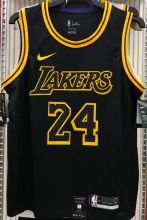 LA Lakers Bryant #24 Black Snake NBA Jerseys Hot Pressed