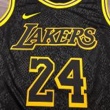 LA Lakers Bryant #24 Black Snake NBA Jerseys Hot Pressed