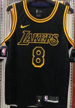 LA Lakers Bryant #8 Black Snake NBA Jerseys Hot Pressed