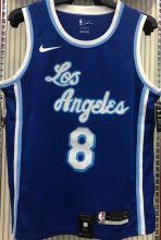 LA Lakers Bryant # 8 Blue NBA Jerseys Hot Pressed