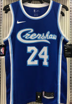 LA Lakers Bryant # 24 Blue NBA Jerseys Hot Pressed