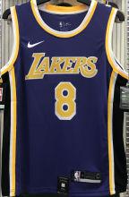 LA Lakers Bryant #8 Purple NBA Jerseys Hot Pressed