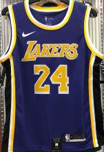 LA Lakers Bryant #24 Purple NBA Jerseys Hot Pressed