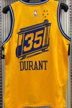 Warriors DURANT #35 Tram Version Yellow Socks NBA Jerseys Hot Pressed电车版