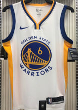 2021 Warriors YOUNG #6 V-Neck White NBA Jerseys Hot Pressed