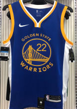 2021 Warriors WIGGINS #22 V-Neck Blue NBA Jerseys Hot Pressed