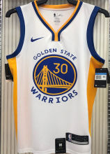 2021 Warriors CURRY #30 V-Neck White NBA Jerseys Hot Pressed