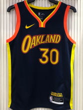 2021 Warriors CURRY #30 City Edition Royal Blue NBA Jerseys Hot Pressed