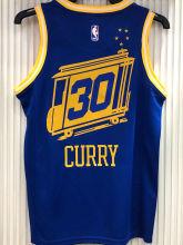 Warriors CURRY #30 Tram Version Blue Socks NBA Jerseys Hot Pressed电车版