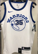 Warriors DURANT #35 White Socks NBA Jerseys Hot Pressed
