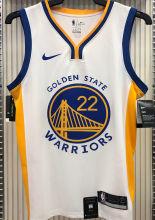 2021 Warriors WIGGINS #22 V-Neck White NBA Jerseys Hot Pressed