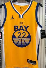 2021 Warriors Jordan WIGGINS #22 Golden NBA Jerseys Hot Pressed