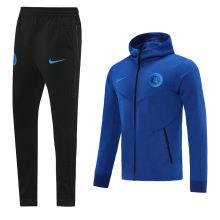 2021 CFC Blue Hoody Zipper Jacket Tracksuit