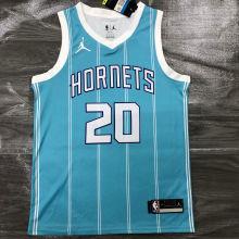 2021 Hornets Jordan HAYWARO #20 Blue NBA Jerseys Hot Pressed