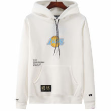 2021 Lakers Aape NBA White Hoody