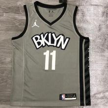 2021 Nets Jordan Irving #11 City Edition Gray NBA Jerseys Hot Pressed