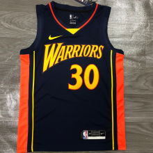 2021 Warriors CURRY #30 Royal Blue NBA Jerseys Hot Pressed
