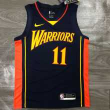 2021 Warriors THOMPSON #11 Royal Blue NBA Jerseys Hot Pressed