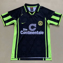 1996 BVB Retro Black Soccer Jersey