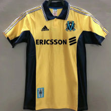 1998/1999 Marseille Away Yellow Retro Soccer Jersey