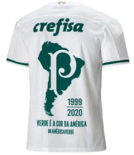2020/21 Palmeiras 1:1 Quality Away White Fans Soccer Jersey