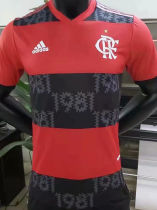 2021/22 Flamengo Red And Black Home Player Version Soccer Jersey