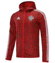 2021 M Utd Red Black windbreaker