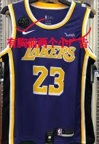 LA Lakers James #23 Purple NBA Jerseys Hot Pressed(Have KB+Wish)有胸前小广告)